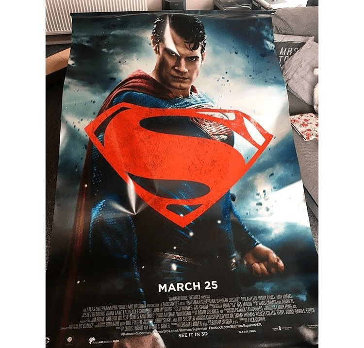 Batman Vs Superman Cinema Poster - Superman