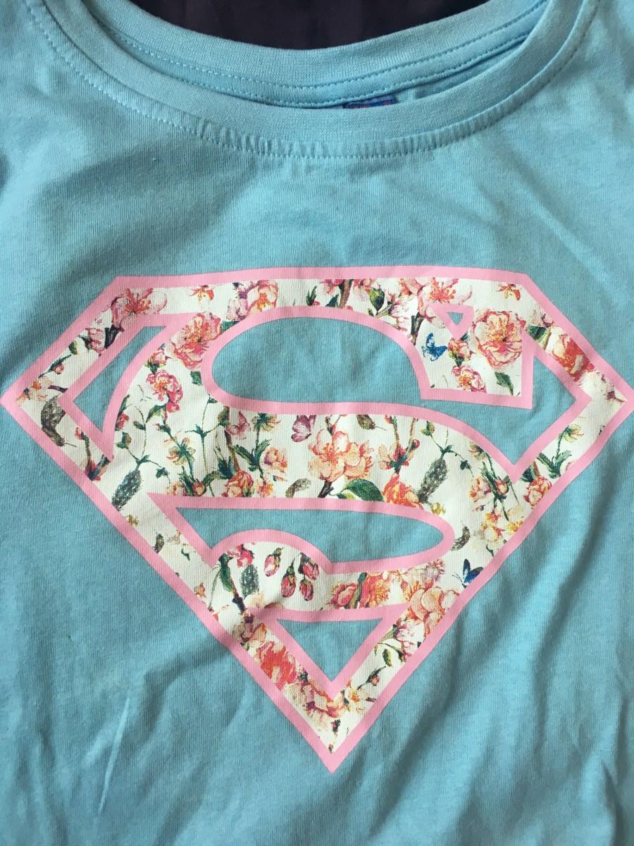Superman Floral Tee