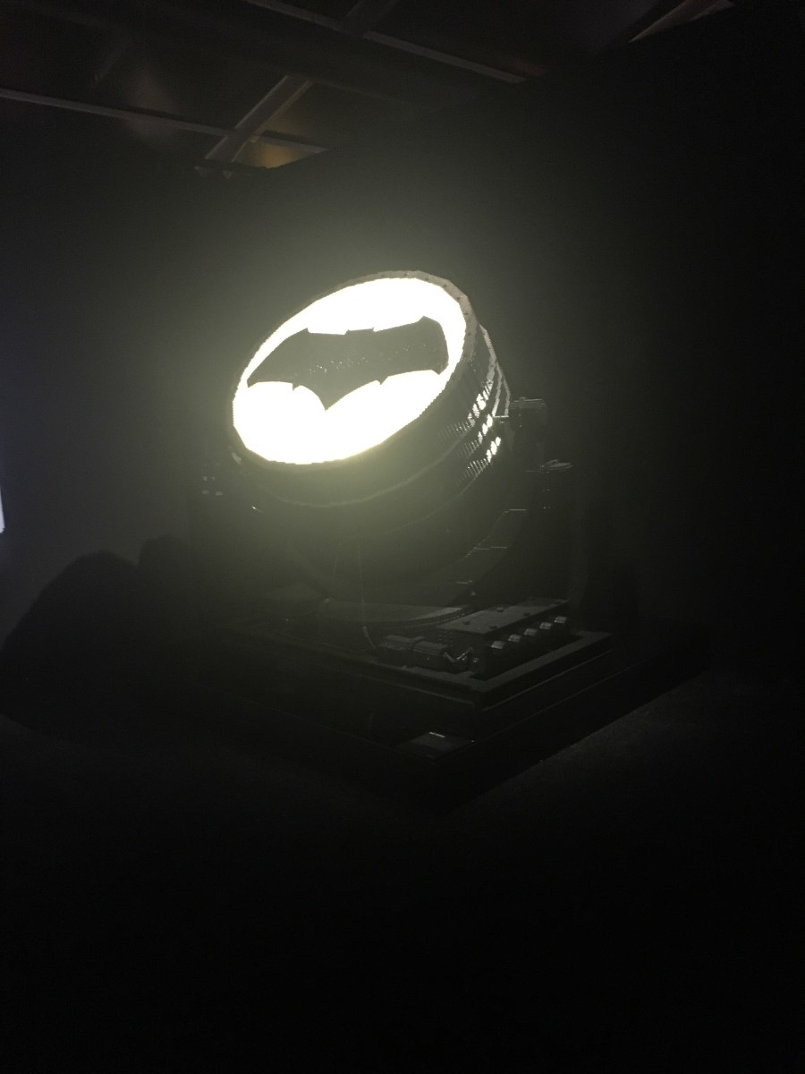 The Batsignal Lego Sculpture
