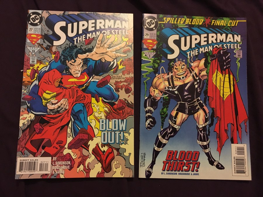 Superman: The Man of Steel Comics - Issue 27 and 29