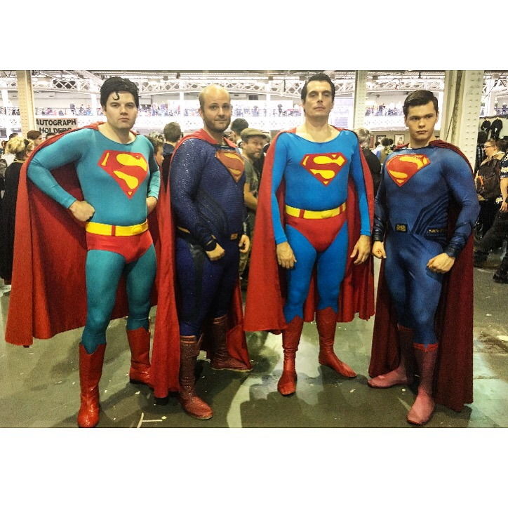 Superman Group Cosplay