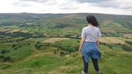 Mam Tor walking route - Castleton (standard picture of me looking like I'd just defeated the opponent and conquered the Peak District)