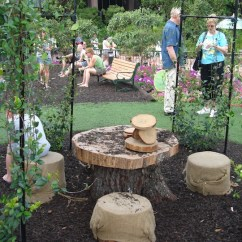 Burlap Chair Covers Broyhill Dining Chairs Creative Seating Ideas For Your Garden | Dish On Design Gal