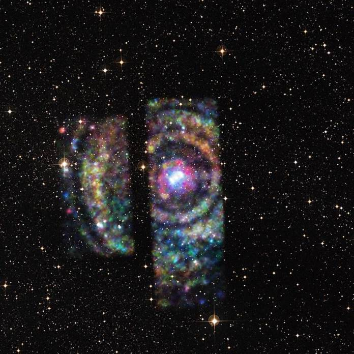 The X-ray echo of Circinus X-1 as seen by NASA's Chandra. Credits: NASA/CXC/U. Wisconsin/S. Heinz