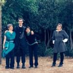 16 photo Yitz Woolf יצחק וולף _ Gillian Kay – Guildenstern, Natan Skop – Hamlet, Miriam Metzinger – Rosencrantz, Abigail Ellis – Horatio