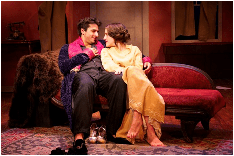 Michael Labbadia and Keilly McQuail in a scene from Strictly Dishonorable