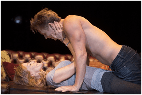 Anna Gunn and Billy Magnussen in a scene from Sex with Strangers (Photo credit: Joan Marcus)