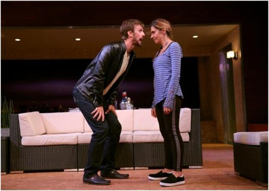 "Fred Weller and Callie Thorne in a scene from Neil LaBute's""The Money Shot"" (Photo credit: Joan Marcus)"