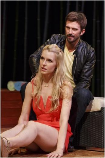 "Gia Crovatin and Fred Weller in a scene from Neil LaBute's ""The Money Shot"" (Photo credit: Joan Marcus)"