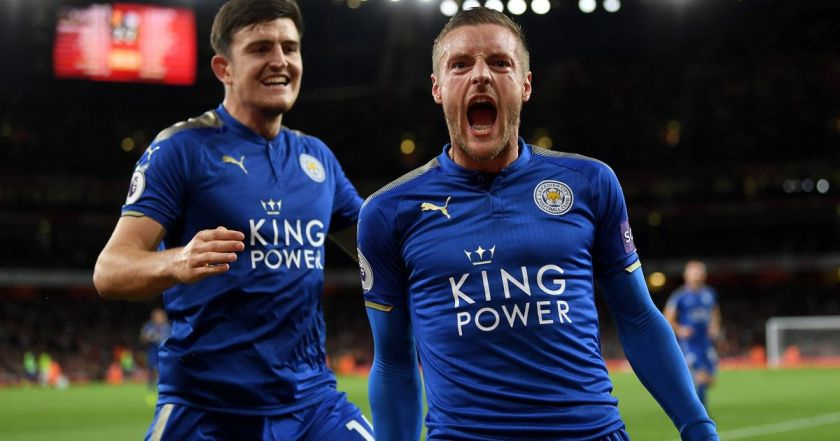 Jamie-Vardy-celebrates-scoring-for-Leicester-City-against-Arsenal