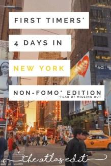 Non-FOMO Itinerary to New York City | Pin It!3