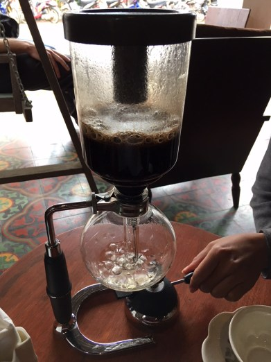 Siphon Brew Coffee at Saffron