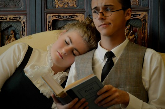 Camille Gray as Eliza Doolittle and Benjamin Fitton as Henry Higgins