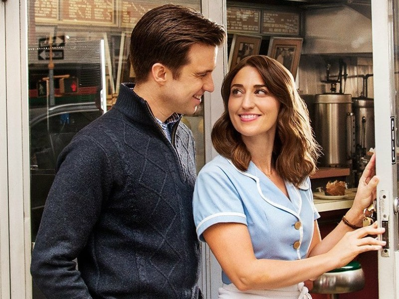 SARA BAREILLES & GAVIN CREEL CUT RUN SHORT IN WAITRESS