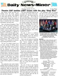 """Stop Kiss"" article in the Fairbanks Daily News-Miner"