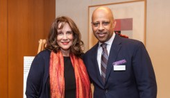 Cathy Gropper and Ruben Santiago-Hudson