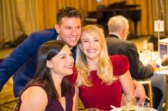 Rachel Saltzman, Constantine Rousouli, and Carrie St. Louis