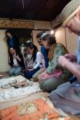 L-R: Michio Katsura, Museum Curator, Yumiko Okada, Yayoi Shinoda, Gwen van den Eijnde, Monica Bethe, John Oglevee