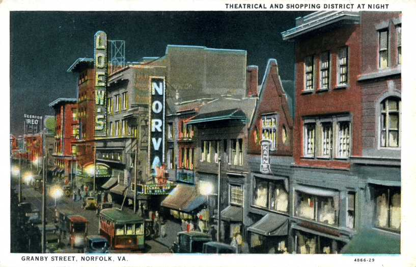 Theatrical and Shopping District, Norfolk, Virginia (1/2)