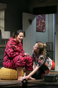 LtoR Kerry Bennett as Dawn and Emily Bowker as Emily in the National tour of Invincible credit Jack Ladenburg