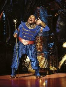 Aladdin Prince Edward Theatre Trevor Dion Nicholas (Genie) Photographer Deen van Meer © Disney(1)