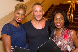 Denise Lewis, Toby Anstis and Angie Greaves