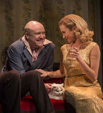 Tim Frances as Rusty Trawler and Pixie Lott as Holly Golightly