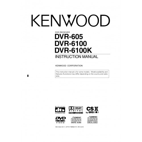 Kenwood DVT-6100K Home Theatre System Cinema Manual Pdf Viewer