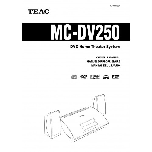 TEAC MC-DV250 Home Theatre System Cinema Manual Pdf Viewer