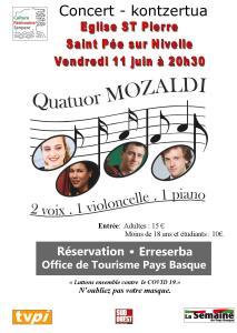 concert, Saint Pee sur Nivelle, Quatuor Mozaldi