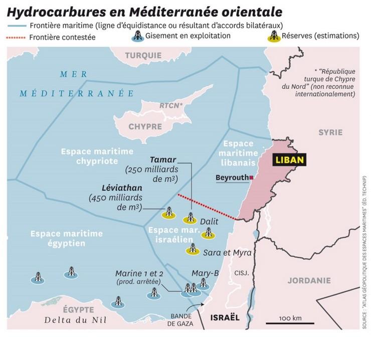 Carte tirée de l'Atlas géopolitique des espaces maritimes (Editions Technip). Cliquer pour agrandir.