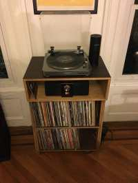 DKVinylDisplays Record Player Stand and Vinyl display with ...