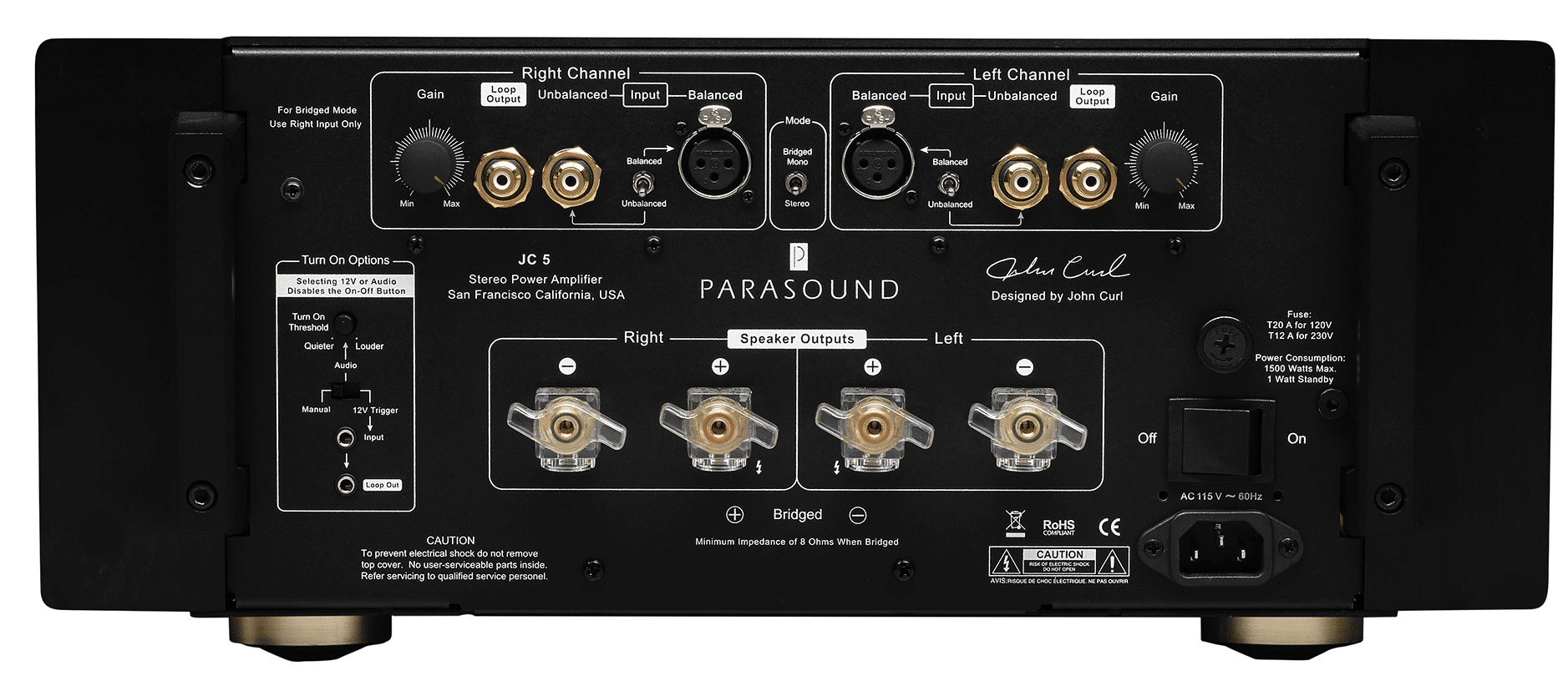 Halo JC5 stereo power amplifier From Parasound - The
