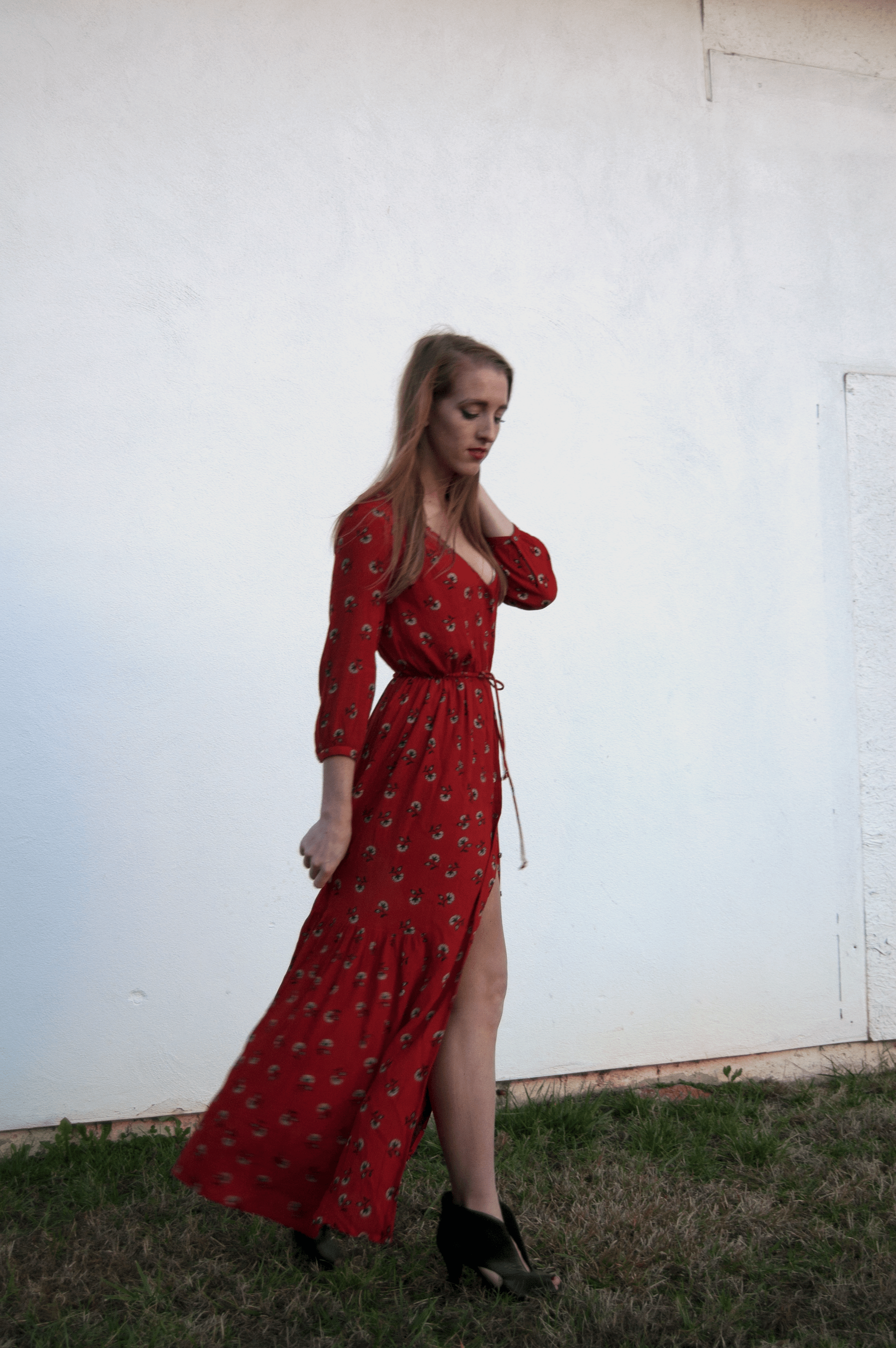 Valentines Look The Audrey Reel Kimia Red Maxi Dress