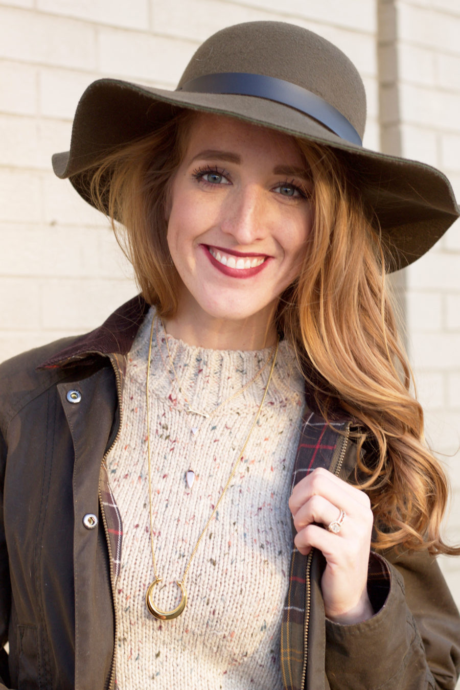 Barbour Jacket & Matching Hat 13