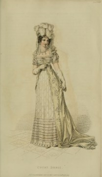 Ser2 v12 1821 Ackermann's fashion plate 23 - Court Dress