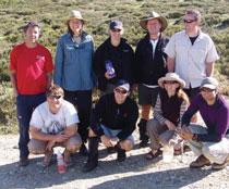 L-R: Mark Abernethy, Craig Mckenzie, Elizabeth Lescheid, Karen Neilson, Ollie Orgill, Graham Neilson, Annie Lesehen, Nick Taylor and Scott Bewley.