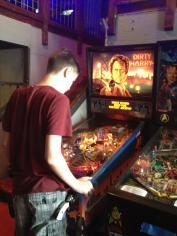 Playing some pinball at Flip Flip, Ding Ding in Georgetown