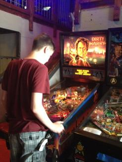 Playing some pinball at Flip Flip, Ding Ding in Georgetown