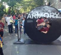 Just resting at Seattle Center, Armory