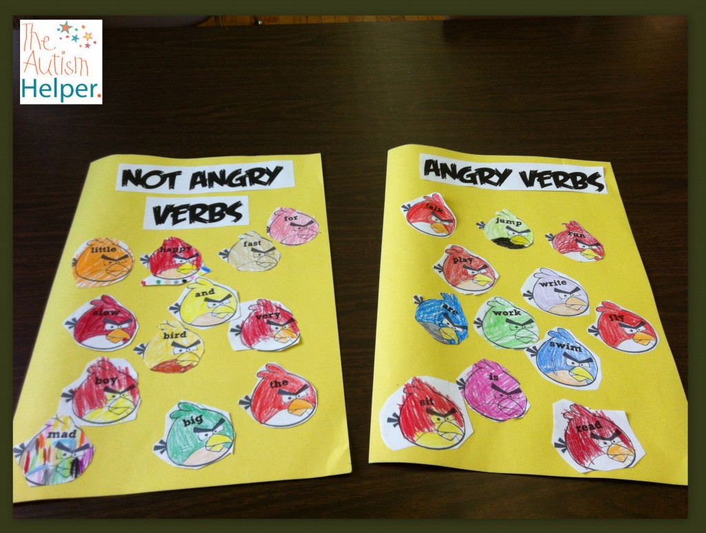 Angry Verbs Making Grammar Fun