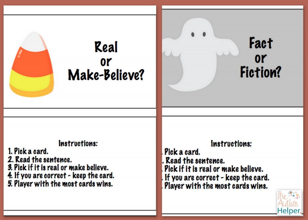 Halloween Fact Vs Fiction Task Cards Free The Autism
