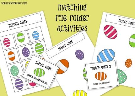 File Folders for Easter