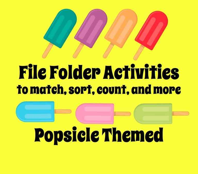 Popsicle Themed File Folder Activities – just in time for summer (and the sale!)
