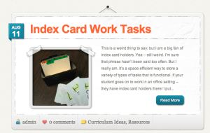 The Autism Helper - Work Tasks