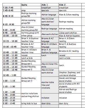 Schedules The Adult Schedule The Autism Helper