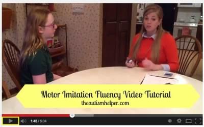 Motor Imitation Fluency Video Tutorial