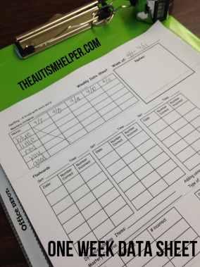 The Autism Helper - Data Sheet