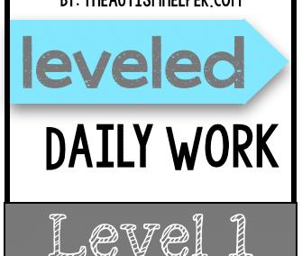 Leveled Daily Work {Level 1}