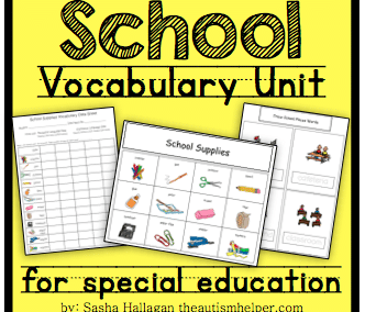 School Vocabulary Unit
